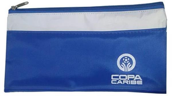 Porta Voucher personalizado em nylon 600 na cor Azul