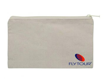 Porta Voucher personalizado em algodão cru